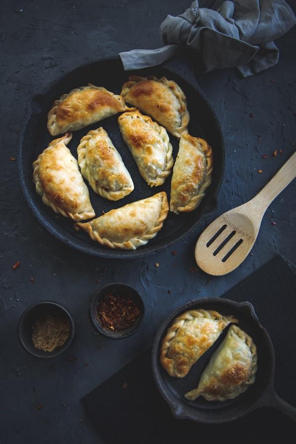 Empanadillas gorgonzola y pera