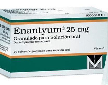 Envase de Enantyum 25 mg