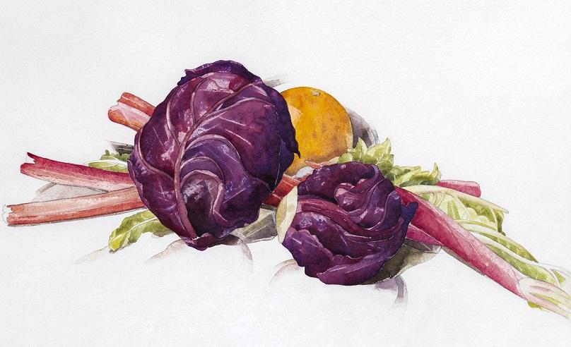 Lombarda y verduras